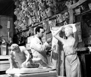 The plaster shop where artistic décor and properties were moulded and cut in fibreglass