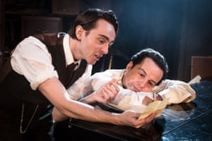 David Dawson as Homer and Scott as Langley in The Dazzle at Found 111 theatre, London, in 2015. They played two society brothers turned recluses in New York.