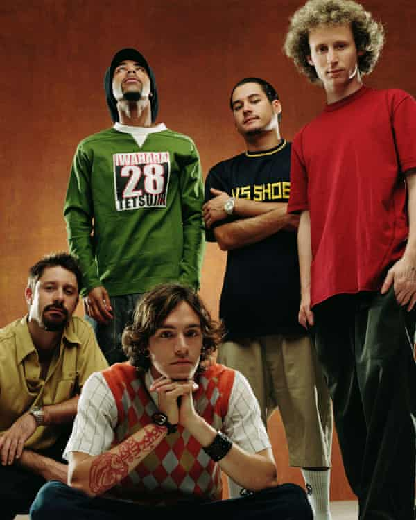 Incubus in their Morning View years, with former bassist Dirk Lance.
