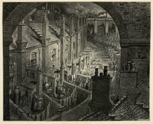 Over London – by Rail ... Despite the criticisms, Doré's work has become celebrated for its dramatic use of light and shade, and the power of his images to capture the atmosphere of mid-Victorian London.