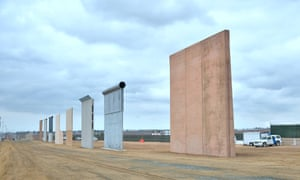 Prototypes of Donald Trump's proposed border wall in San Diego, California.