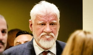 Slobodan Praljak at the court in The Hague on Wednesday, shortly before he took poison.