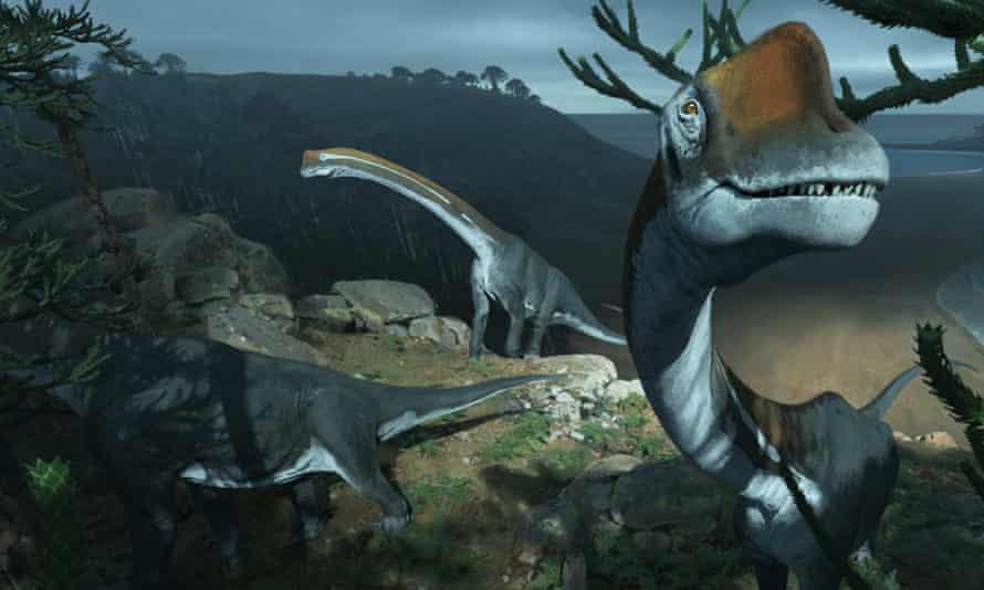 Life restoration of the brachiosaurid dinosaur Vouivria