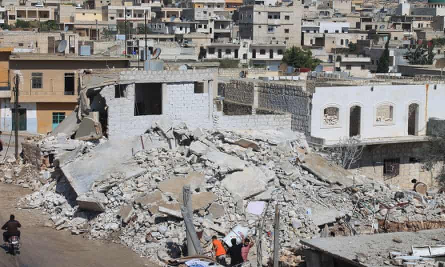 Russian airstrike in Darat Izza, northern Syria