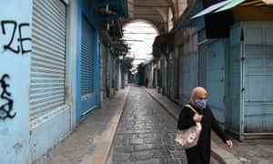 Shops are closed in the Medina of Tunis (old city of Tunis) to prevent the outbreak of the Covid-19, in Tunisia, April 16, 2020. Photo by Xinhua/REX/Shutterstock