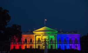 The White House bathed in rainbow light on 26 June 2015, following the US supreme court ruling in favour of same-sex marriage.