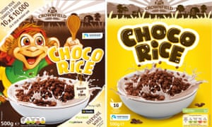 Lidl Choco Rice before and after the redesign