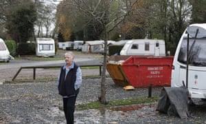 Kathy Frankland at Riverside Caravan Park: 'It feels like we have been forgotten a bit.'