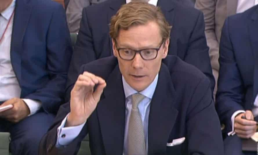 Former chief executive of Cambridge Analytica Alexander Nix gives evidence to the Commons digital, culture, media and sport committee