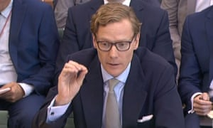 Alexander Nix, ex-CEO of Cambridge Analytica, giving evidence to the digital, culture, media and sport committee inquiry into fake news, June 2018.