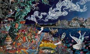 Psychedelic update … Self Portrait as The Opium Smoker (A Midsummer Night's Dream) by Raqib Shaw.