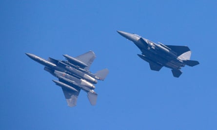 South Korean fighter jets on a training exercise. The defence ministry said its planes fired warnings at Russian aircraft on Tuesday.