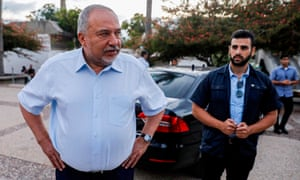 Avigdor Lieberman (left), leader of the right Yisrael Beiteinu party, has emerged as something of a kingmaker in this week's election
