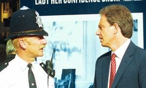 Ian Bashford, left, was a former Metropolitan police officer who protected politicians including Tony Blair.