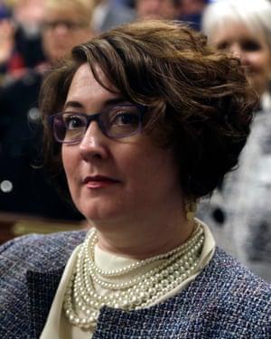 Danielle Friel Otten being sworn in in Harrisburg in 2019.