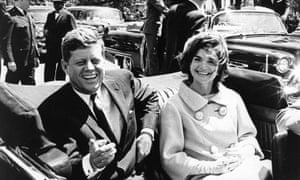 US president John F Kennedy and first lady Jacqueline Kennedy.