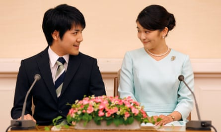 Princess Mako and her fiance, Kei Komuro, in 2017