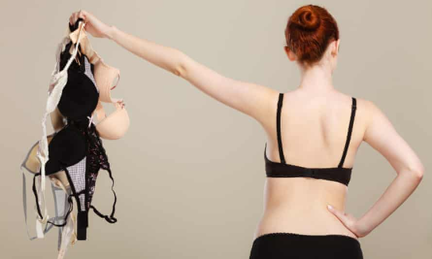 'Covid made it possible for me to go braless for an entire year' (posed by model).