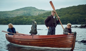 They didn't mean to go to sea: Orla Hill, Dane Hughes and Bobby McCulloch in Swallows And Amazons.