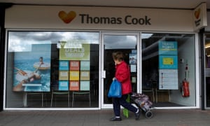 A closed Thomas Cook travel agents store near Manchester, Britain, this month.