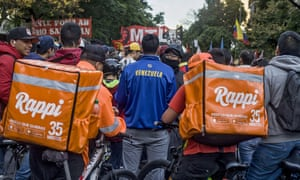 Venezuelans in Buenos Aires express their support for the leaders of the Venezuelan opposition. For many migrants fleeing the crisis in Venezuela, delivery apps have been a financial lifeline.