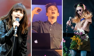 St Jerome's Laneway festival stars: CHVRCHES lead singer Lauren Mayberry, Flume and Grimes.