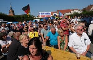 An AfD rally in Peitz, Brandenburg, last week.