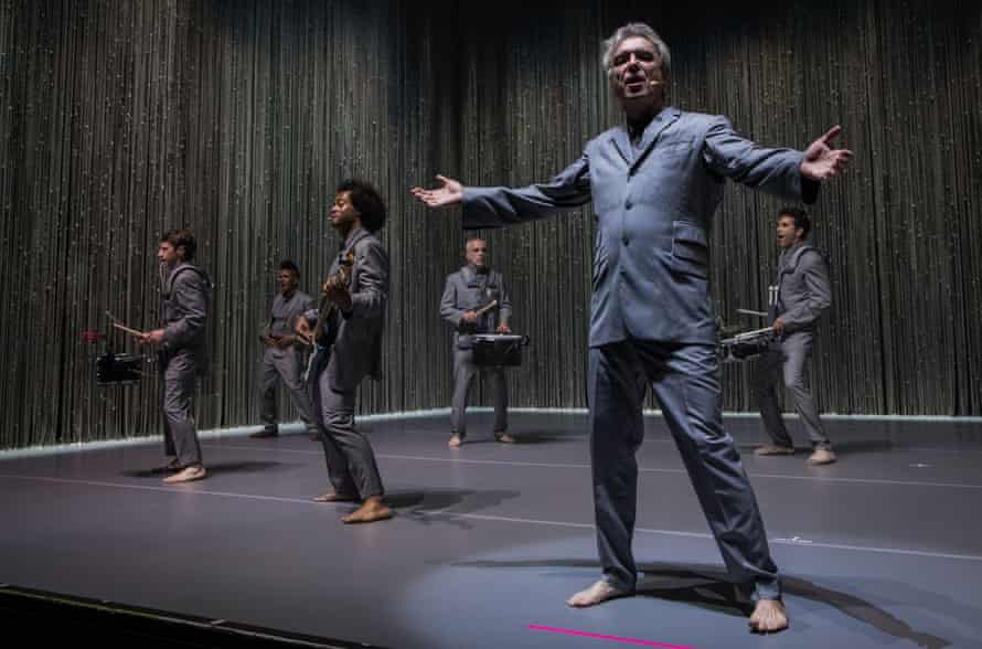David Byrne and Co in action at the Apollo.