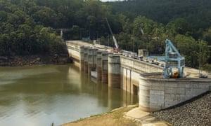 Warragamba Dam in February 2020