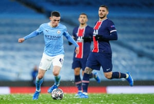 Phil Foden of Manchester City runs with the ball.