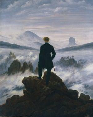 Echoes of Frankenstein … Caspar David Friedrich's The Wanderer Above the Sea of Fog, circa 1818.