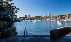 Luxury properties surrounding Rushcutters Bay. The new plan largely ignores potential sea level rises – which could be catastrophic for a city with 500 gigalitres of harbour running through its centre.