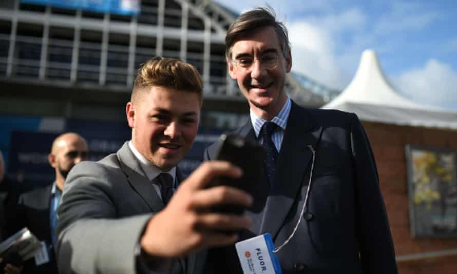 Jacob Rees-Mogg at the Tory party conference 2017.