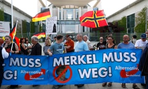 Supporters of the German anti-immigration party Alternative for Germany (AfD), who control 92 seats in the Bundestag.