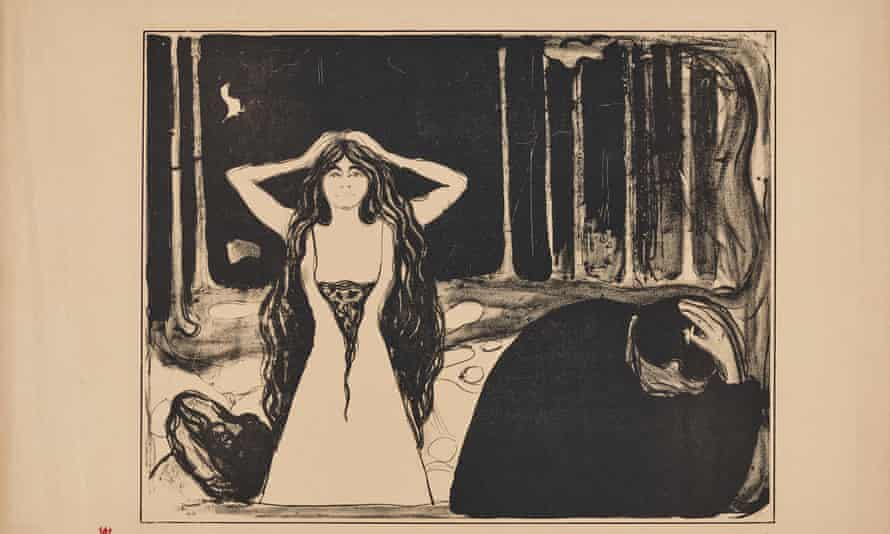 Edvard Munch Ashes II 1899 Lithograph on vellum paper.