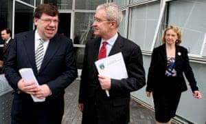 Hugh Brady, then president of University College Dublin, with then Taoiseach, Brian Cowen.