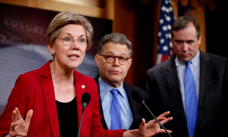 Warren has accused big banks and other financial firms of unfair dealings that harm the middle class and help the rich grow richer.