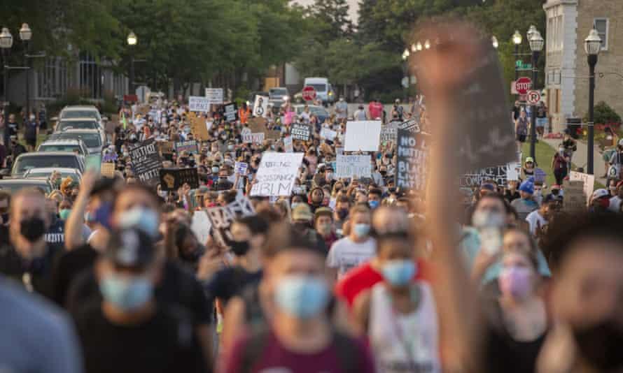 A Black Lives Matter protest in Kenosha, Wisconsin.