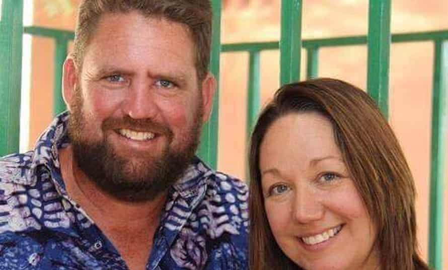 Michael Riddering and his wife Amy.