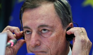 ECB president Mario Draghi at hearing of the European Parliament Committee on Economic and Monetary Affairsin Brussels on 24 September.