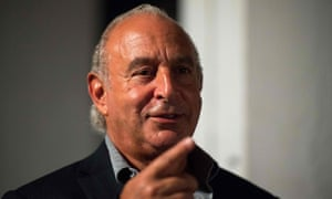 Philip Green pointing a finger
