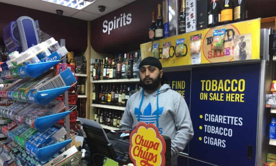 Sandeep Chopra in his shop.