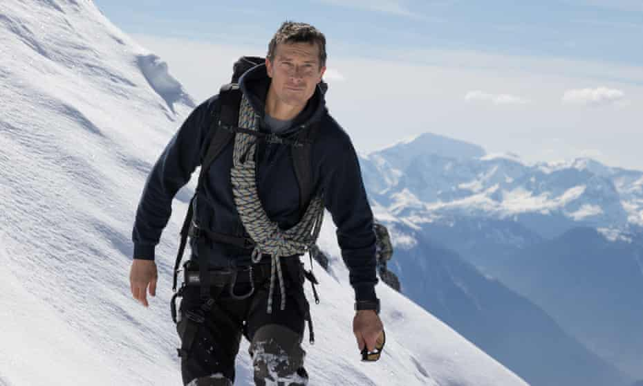 A path less trodden … 18 months after breaking his back, Grylls climbed Everest.
