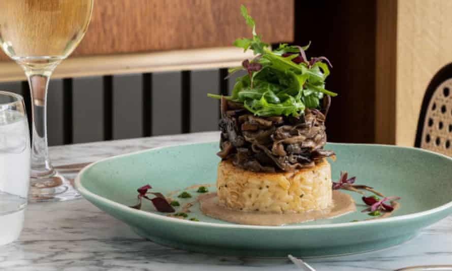 The Gate's 'decadent' mushroom risotto cake.