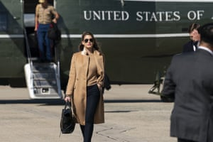 Counselor to the President Hope Hicks walks from Marine One to accompany President Donald Trump aboard Air Force One as he departs Wednesday, Sept. 30, 2020, at Andrews Air Force Base, Md. Hope, President Donald Trump and first lady Melania Trump have all tested positive for the coronavirus.