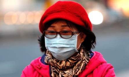 Woman wears a face mask
