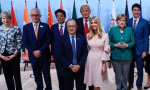 Ivanka Trump also appeared with world leaders at a meeting on women's entrepreneurship.