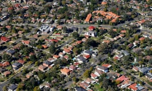 Houses in western Sydney viewed from the air