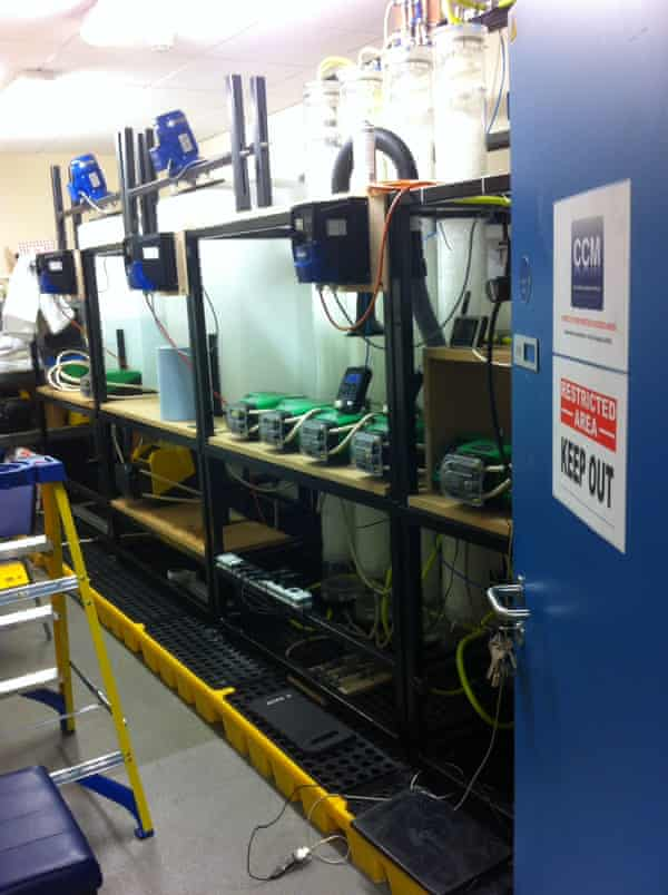 Carbon capture and conversion machine at the University of Aberdeen .