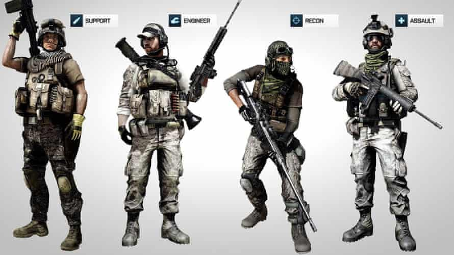 Battlefield 3's character classes